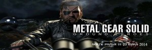 Metal Gear Solid V  Ground Zeroes banniere