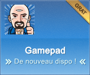Appli GAMEPAD : de nouveau dispo !