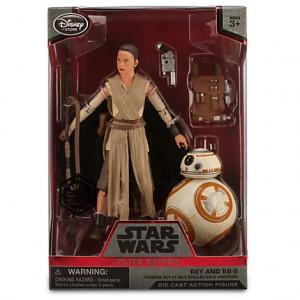 """Rey et BB-8 dans la série """"élite"""" chez disney store"""