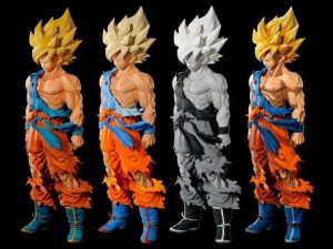 les 4 versions de la Super Master Stars Piece de Goku